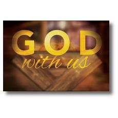 God With Us Manger InviteCard