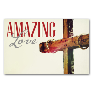 Amazing Love Cross Medium InviteCards