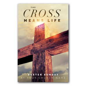 Cross Means Life Medium InviteCards