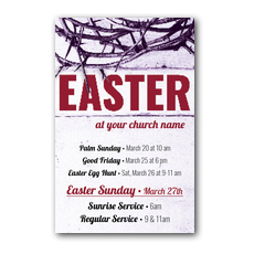 Easter Crown of Thorns InviteCard