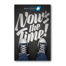 Back to Church Sunday: Nows the Time InviteCard