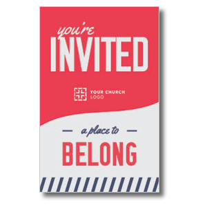 To Belong Red Medium InviteCards