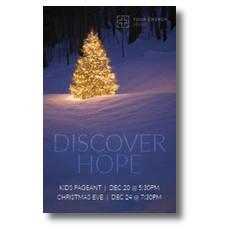 Discover Hope Bright Tree InviteCard