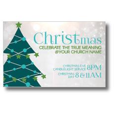 Teal Tree Christmas InviteCard