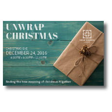 Unwrap Christmas InviteCard