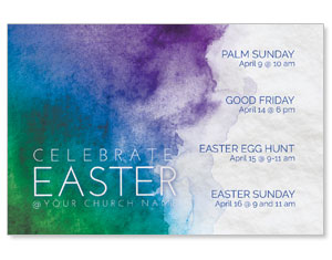 Celebrate Watercolor Easter InviteCards