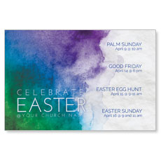 Celebrate Watercolor Easter InviteCard