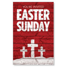 Easter Wood Red InviteCard