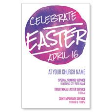 Watercolor Circle Easter InviteCard