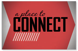 Place to Connect Red InviteCards