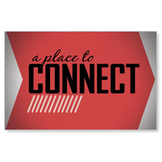Place to Connect Red InviteCard