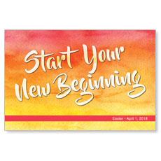 Big Invite New Beginning InviteCard
