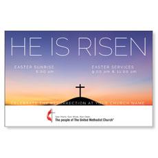 UMC He Is Risen Sunrise InviteCard