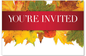 Leaves Youre Invited InviteCards