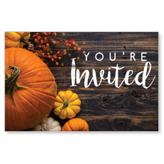 Pumpkins Youre Invited InviteCard