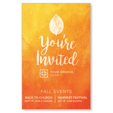 Youre Invited Orange InviteCard