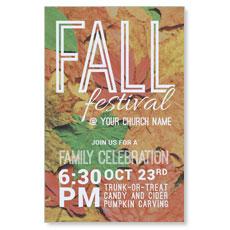 Fall Festival Leaves InviteCard