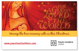 UMC Christmas Mary and Baby InviteCards