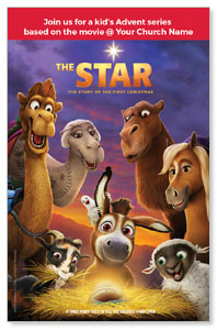 The Star Movie Advent Series for Kids InviteCards
