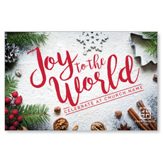 Joy To The World Snow InviteCard