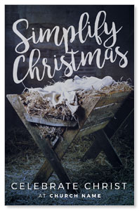 Simplify Christmas Manger InviteCards