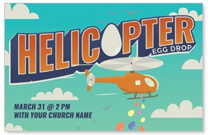 Helicopter Egg Drop Medium InviteCards