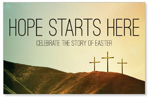 Hope Starts Here Calvary Medium InviteCards