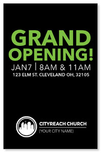 CityReach Black and Green InviteCards