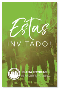 CityReach Urban Green Invited Spanish InviteCards
