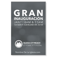 CityReach Blurred Gray Spanish InviteCard