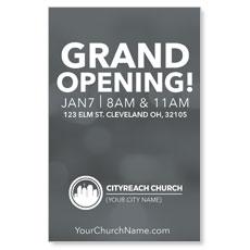 CityReach Blurred Gray InviteCard