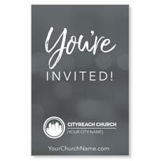 CityReach Blurred Gray Invited InviteCard