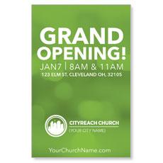 CityReach Blurred Green InviteCard