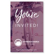 CityReach Plum Invited InviteCard