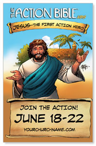 The Action Bible VBS Medium InviteCards