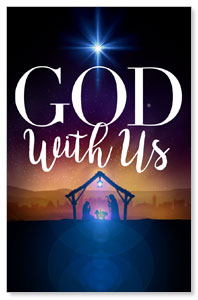 God With Us Advent Medium InviteCards