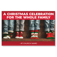 Family Christmas Socks InviteCard