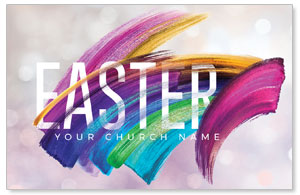 Shimmer Stroke Easter Medium InviteCards