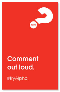Alpha Comment Out Loud Red Medium InviteCards