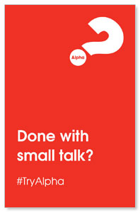 Alpha Small Talk Red Medium InviteCards