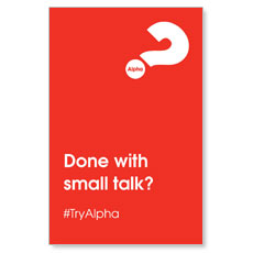Alpha Small Talk Red InviteCard