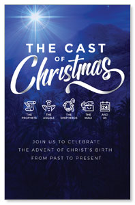 The Cast of Christmas Medium InviteCards