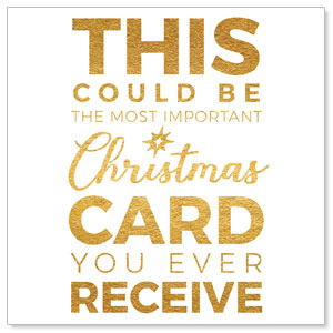 "Christmas Gold Could Be 4"" x 4"" Square InviteCards"
