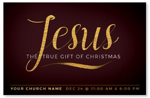 Jesus True Gift Medium InviteCards