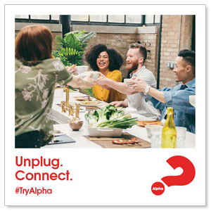 "Alpha Unplug 4"" x 4"" Square InviteCards"