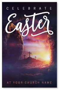 Dramatic Tomb Easter Medium InviteCards