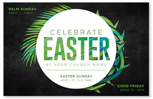 Easter Palm Crown Medium InviteCards