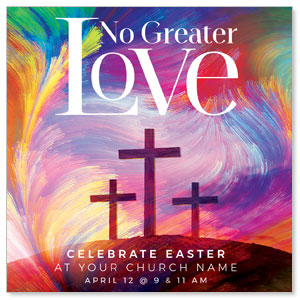 "No Greater Love 4"" x 4"" Square InviteCards"