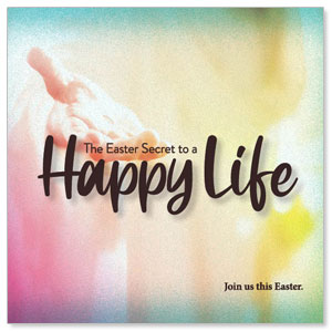 "Happy Life 4"" x 4"" Square InviteCards"