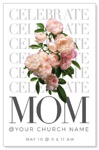 Celebrate Mom Flowers Medium InviteCards
